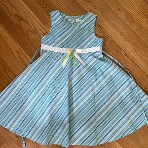 Girls formal dots/stripes dress